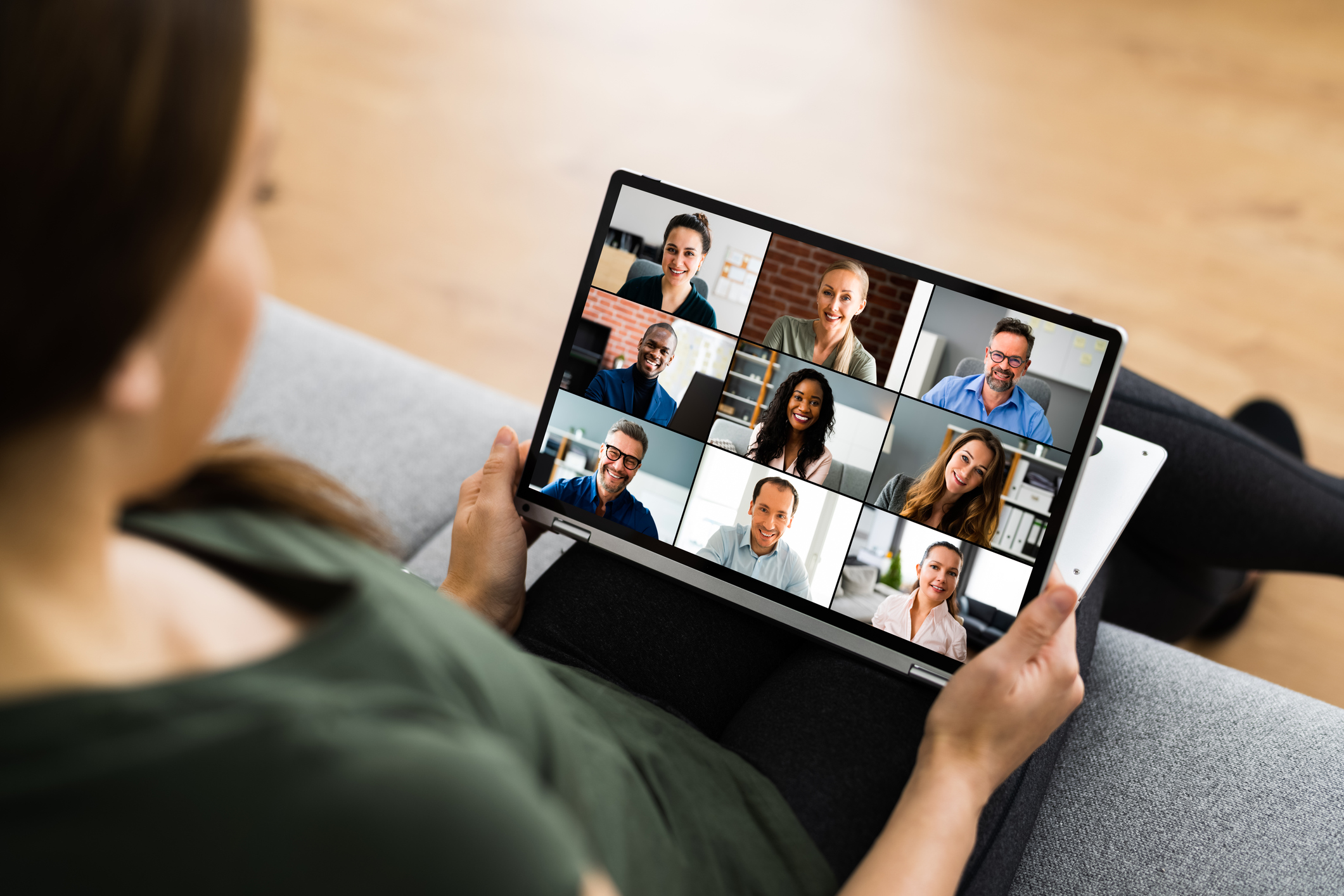 Online Video Conference Call Or Webinar Business Meeting